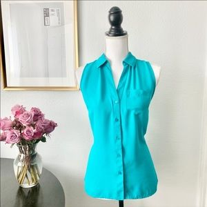 The Limited Teal Sleeveless Button up Size Small